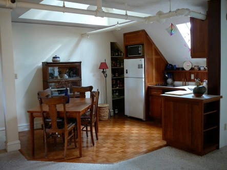 Kitchen , dining area